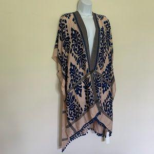 Boutique Boho Pink and Blue Kimono